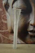 Decken Lampe Bali Leuchte Bambus Vintage Weiß 80cm Handmade