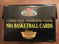 1992-93 topps stadium club nba basketball members only empty box