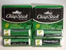 4/Pack - ChapStick Classic Spearmint, .15 oz (4 Tubes)