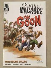 Criminal Macabre The Goon #1 Eric Powell Variant Steve Niles Dark Horse 2011