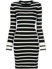 New Theory Striped Crewneck Sheath Fitted Dress Size Small MSRP $395