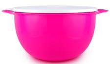 Tupperware Mega Thatsa Bowl 42 Cups Electric Neon Pink w/ White Seal Brand New