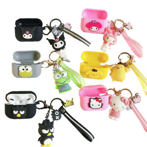 3D Cute Melody kitty pendant Earphone Case Cover for apple Airpods Pro Charging