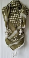 Olive Green Unisex Shemagh Head Scarf Neck Wrap Authentic Cotton Face Military