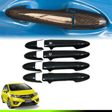 CARBON KEVLAR COVER DOOR HANDLE 4 DOORS TRIM FIT FOR HONDA JAZZ GK 2014 15 16 17