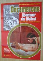 Filmplakat - Decamerone Abenteuer der Wollust ( Mario Brega , Claudia Bianchi )