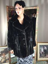 1950s Vtg Black Sable Faux Fur Coat by Diane Furs Mint Condition Sz14