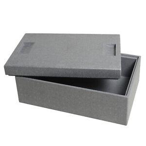Thermobox 16,5l Styropor Kühlbox Kiste Box Essen Warmhaltebox Transportbox E8245