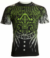 ARCHAIC by AFFLICTION Mens T-Shirt WRECKAGE Wings Biker American Fighter $40