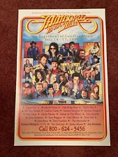 JAMBOREE IN THE HILLS PROMOTIONAL POSTER 1994 ST. CLAIRSVILLE OHIO MINT Nice