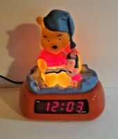 Vintage Winnie the Pooh & Piglet Fantasma Alarm Clock & Night light Tested Works