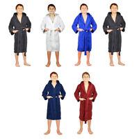 Kids Girls Boys Robe 100% Cotton Soft Terry Hooded Bathrobe Luxury Dressing Gown