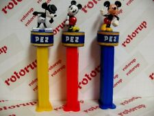 PEZ Mickey Mouse thru 80 years. Steamboat Willie and two more Mickeys