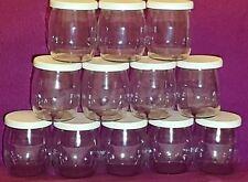 Pots en Verre avec couvercle, Yaourt, 125 ml. Lot de 12