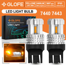 GLOFE Canbus 7440 7443 Amber Yellow LED Turn Signal Light Bulb No Hyper Flash