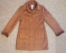 Covington Women's Brown Faux Suede & Fur Coat Jacket Size M