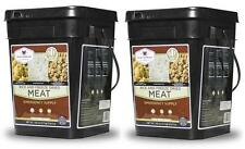 (2) Wise Food ~ 2 x 104 Serving GLUTEN FREE Meat & Rice Bucket Emergency Camping