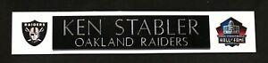 KEN STABLER  OAKLAND RAIDERS  NAME PLATE