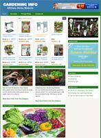 GARDENING WEBSITE - Affiliate Information website For Sale - Free Installation