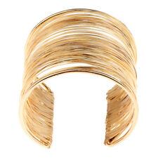 Prettyia Rigid Memory Wire Metal Circle Split Coil Wire Cuff Bracelet Bangle