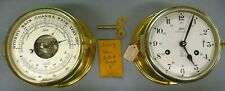 Amazing Looking & Working Shatz Royal Mariner Ships Deck Clock & Barometer Set