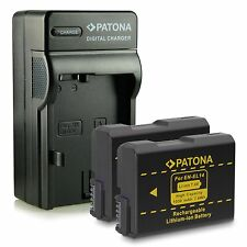 x2 batterie piu caricabatteria patona per nikon D5100 NIKON D5200 NIKON D5300