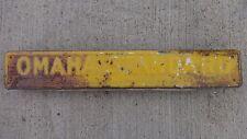 "OMAHA STANDARD SIGN Farm Truck Bed Box Co. flat stake grain dump tilt 20""x3.25"""