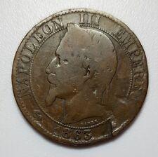 5 Cinq Centimes 1863 A Bronze Münze, Napoleon III Empereur, Empire Francaise