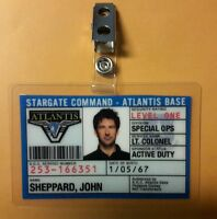 Stargate Command Atlantis ID Badge-Lt.Colonel John Sheppard cosplay prop costume