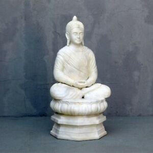 Buddha On Lotus Leaf Stone Style Contemporary Garden Home Decoration Prop Gift
