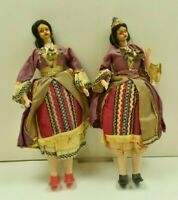 VINTAGE GREEK DOLLS - ORIGINAL DRESSES- FREE SHIPPING