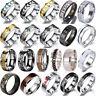 8mm Silver Celtic Dragon Ring Titanium Stainless Steel Men's Wedding Band Rings