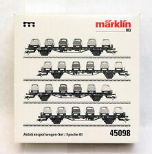 MARKLIN HO # 45098 4-UNIT AUTO TRANSPORT CAR SET