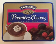 Swiss Miss Premiere Cocoas Cocoa Mix Collectible Metal Tin ~ Hot Chocolate