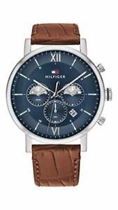 Tommy Hilfiger Herren Analog Armbanduhr Lederarmband Armbanduhren Zeitmesser