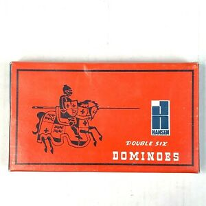 Hansen Double Six Vintage Dominoes No. T7515 Hong Kong Joust Box 28 Tiles 1970s