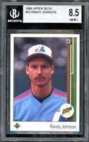 Randy Johnson Rookie Card 1989 Upper Deck #25 BGS 8.5 (9 9 8.5 8.5)