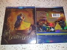 Beauty and the Beast, 2017 (Blu-Ray + DVD ) w/ SLIPCOVER - FREE SHIPPING