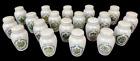 Vintage Gloria Vanderbilt Concepts Franklin Mint 19 Spice Jars w/ Lids Gold Trim
