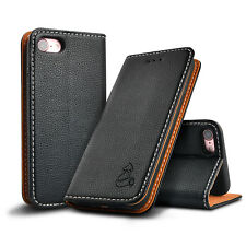 de Piel Tapa magnética Funda con cartera para iPhone x 8 7 6Plus Samsung S8+