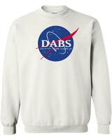 DABS Outta This World NASA Parody Logo Crewneck Sweatshirt Space Stoner Weed Pot