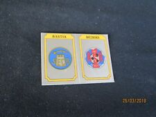 SEC BASTIA BEZIERS Ecusson image sticker N° 385 FOOTBALL 87 PANINI 1987 BRILLANT