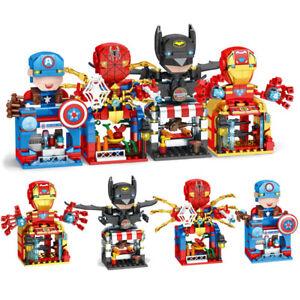 Super hero superheroes Avenger Toys Mini Street blocks  bricks Kids Au Gift