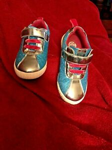 LIVIE & LUCA Shoes Spin Sneakers Aqua Metallic Spin 13 Toddler
