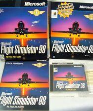 Microsoft Flight Simulator 98 Windows PC Game Big Box Disc HandBook Tip Pilots