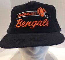 Cincinnatti Bengals Embroidered Script Corduroy Snapback Hat By Annco