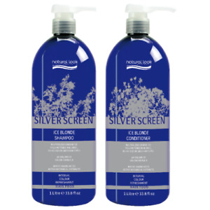 Natural Look SILVER SCREEN Ice Blonde Shampoo 1L & Conditioner 1L DUO PACK