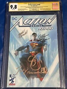 Action Comics #1000 CGC 9.8 SS 7X Jim Lee Dell'Otto, Snyder, King, Mann, +2