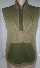 LACOSTE Sport Unsex Mens Womens Sweater Vest 1/3 Zipper Front Sz 42 Medium