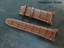 IWC Big Ingenieur brown crocodile watch strap band Cheergiant straps IWC大工程師鱷魚錶帶